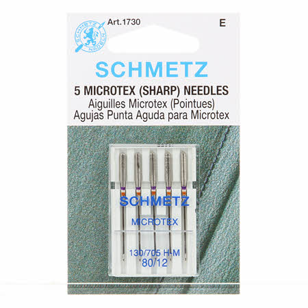 Schmetz Sharp / Microtex Machine Needle Size 12/80