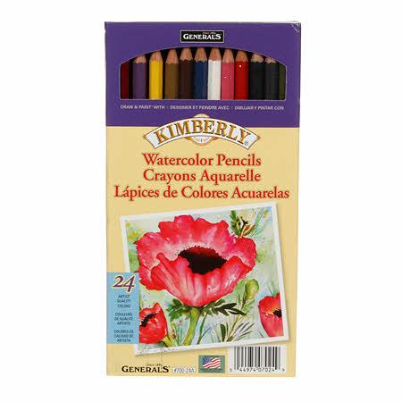 Pencil Watercolor Set 24 Assorted Colors
