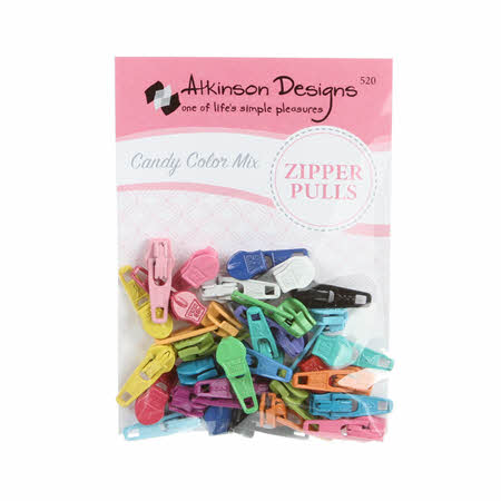 Zipper Pulls Candy Color Mix Assorted Colors