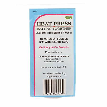 Heat Press Batting Together 3/4in X 10yd